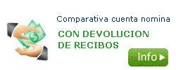 comparativa cuenta nomina con devolucion de recibos
