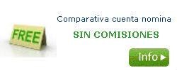 comparativa cuenta nomina sin comisiones