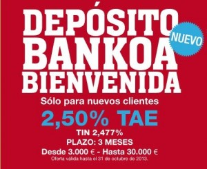 deposito bankoa bienvenida