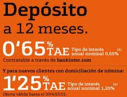 deposito bankinter 0,65